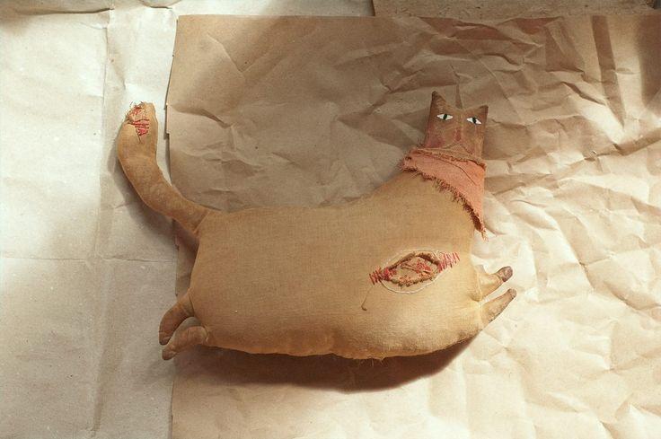 primitive fabric vintage doll