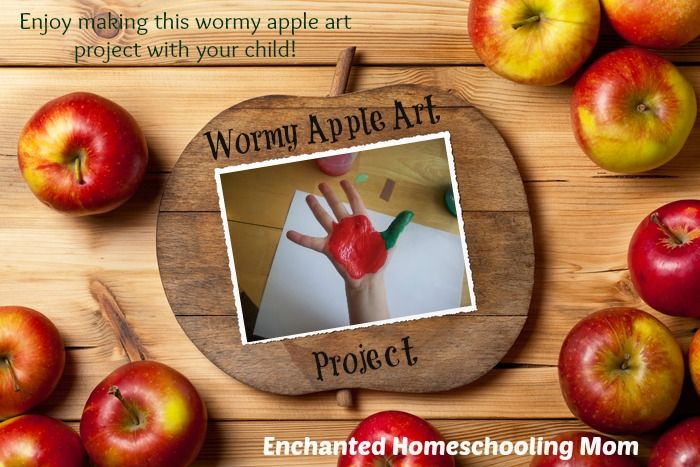 Enjoy making this wormy apple art project with your child!