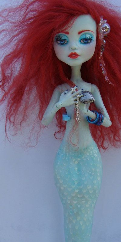 OOAK repaint monster high frankie stein * mermaid* fairy tale