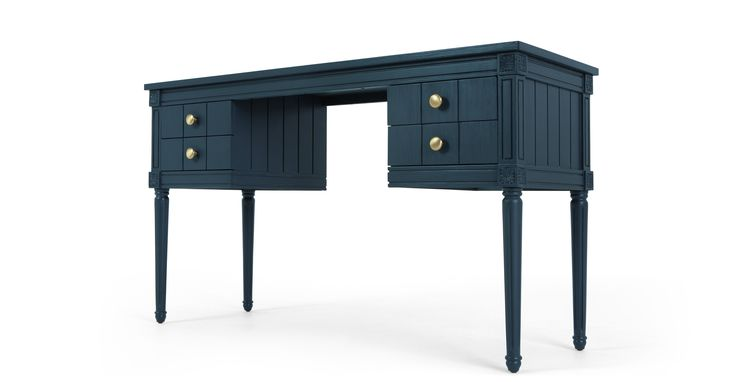 Bourbon desk in dark blue £299
