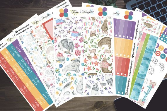 Mambi happy planner stickers weekly kit bears by TapiosDaughter