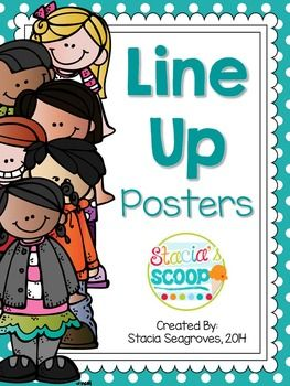Line up chants are a fun way to help save time transitioning for the hall! Display one of these posters by your door and say the chant together as you line up. Students line up quickly and quietly! I included four popular chants for you to choose from, in five color options (turquoise, green, red, black, and black and white), all with adorable Melonheadz clip art!
