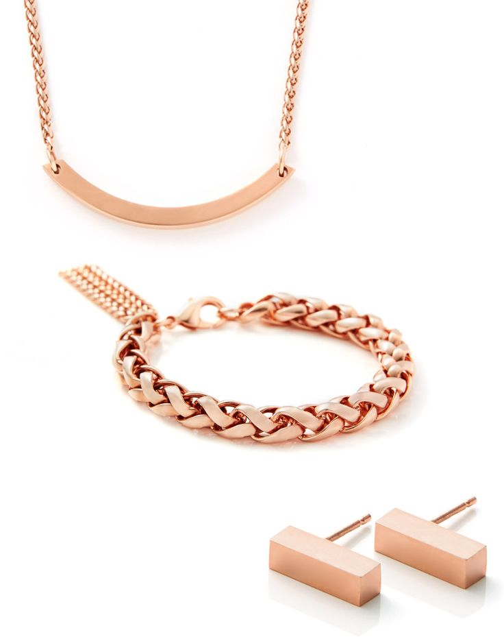 Beautiful Rose Gold jewelry / accessories for summer #rosegold #Jewelry #Necklace #Earrings #Bracelet #Gold #Minimal #Fashion #Modern