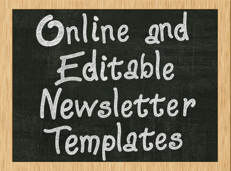 Top  Best Monthly Newsletter Template Ideas On