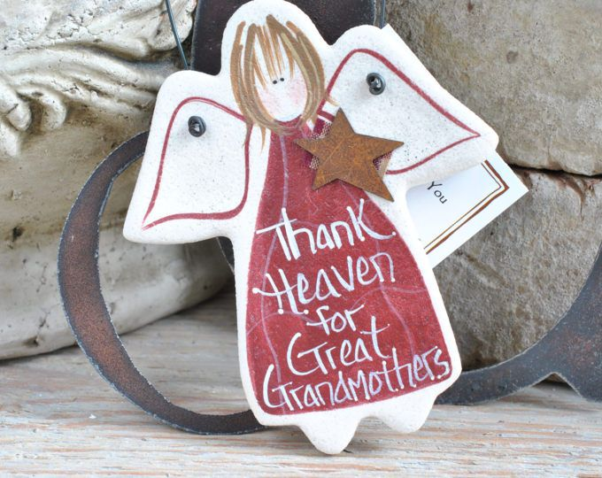 Great Grandmother Gift Salt Dough Ornament Grandparents Day Mother's Day Birthday Gift for Grandmom