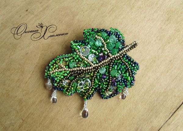 leaf bead embroidery patterns - Google Search