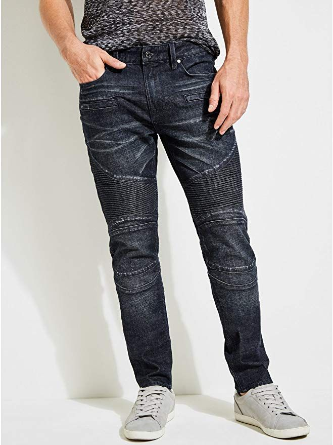 d74b72b69 Affiliate] GUESS Men's Slim Tapered Destroyed Moto Jeans | Pants for ...