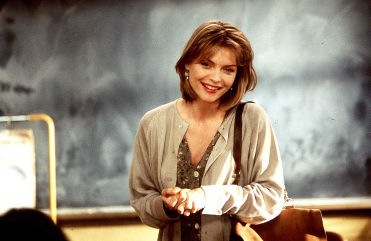 """Dangerous Minds"" movie still, 1995.  Michelle Pfeiffer as LouAnne Johnson."