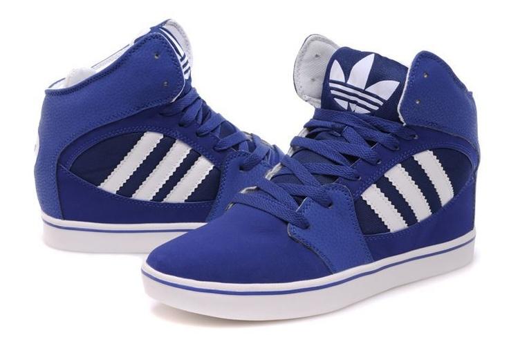 Adidas High Tops Blue-White