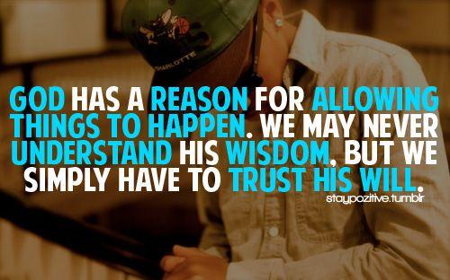 Trust His Will