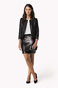 As selected by our guest editor, Alexa Chung.<br/><br/>Add sparkles to your holiday look with this sequined skirt. Crafted from soft, stretchy jersey in a close fit that hits above the knee.<br/><br/>Our model is 1.76m and is wearing a size S Tommy Hilfiger skirt.