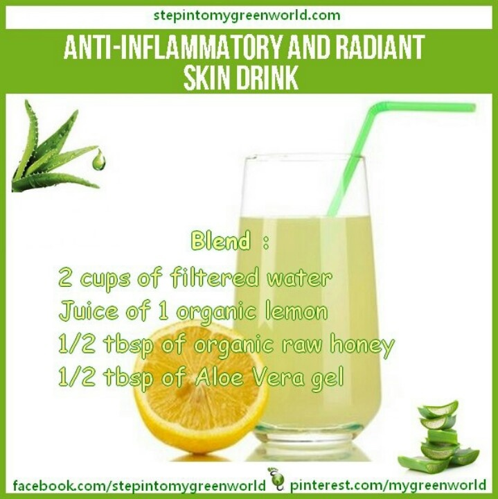 does aloe vera juice help inflammation