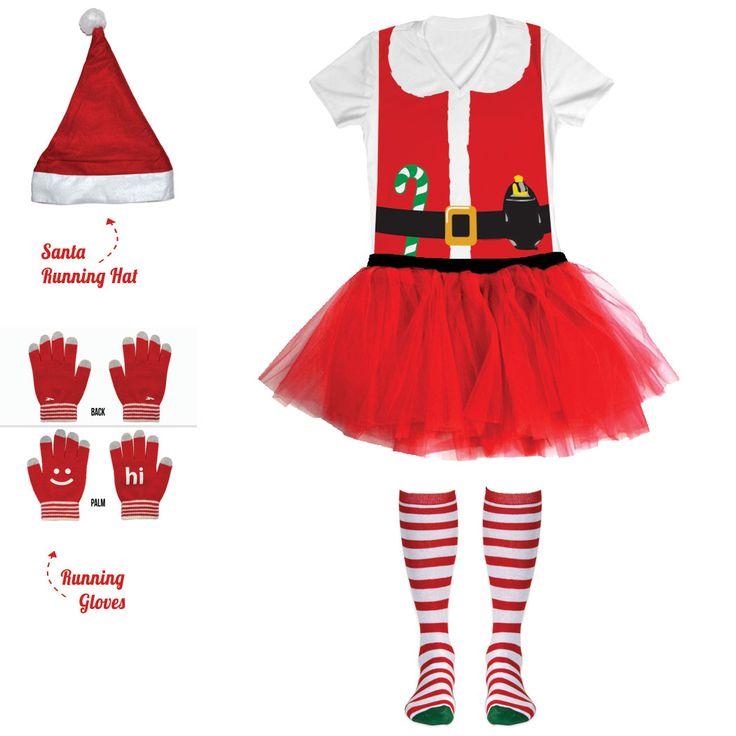 Christmas Santa Running Outfit
