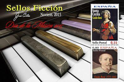 SELLOS FICCIÓN: Santa Cecilia, patrona de la Música.