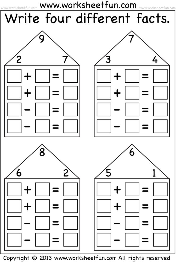 Basic Division Fact Families Worksheets - fact family worksheets ...