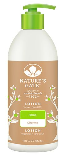 18 FL OZ / 532 mL  Indulge in Hemp hydration. Our Hemp Lotion moisturizes skin with a gentle blend of Hemp Seed Oil, Magnolia Bark, and Elderflower. At Nature's Gate, we believe it's not only essential what you put in your body but what you put on it as well.   Lotion Instructions Apply liberally to body. Smooth into skin. Reapply to dry, rough chapped areas. For best results, use daily. FOR EXTERNAL USE ONLY. AVOID DIRECT CONTACT WITH EYES. Vegan, Non GMO, Paraben Free, Gluten Free, Soy…