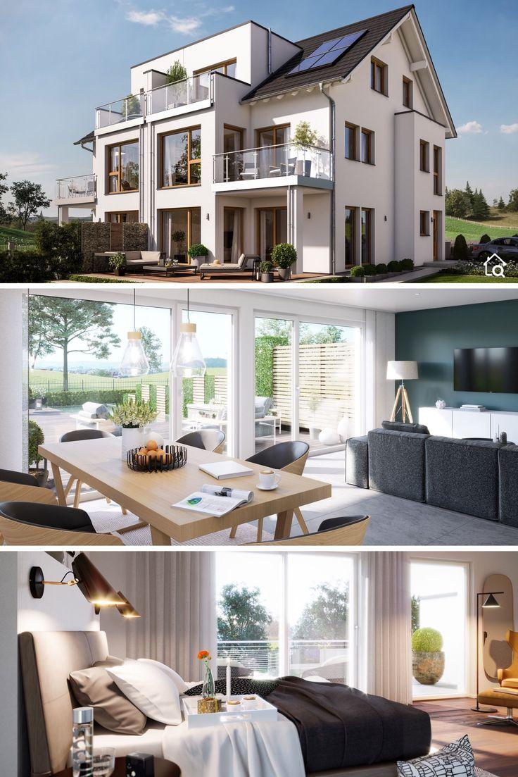 Großes Doppelhaus mit Satteldach Architektur, 7 Z…