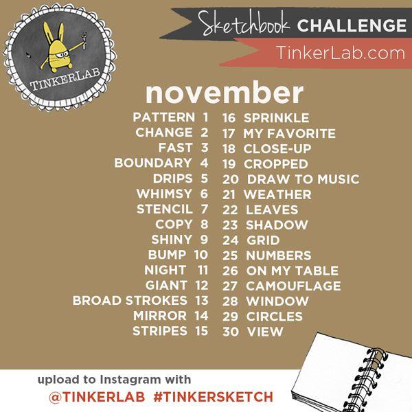 Instagram Tinkersketch Sketchbook Challenge november 2015