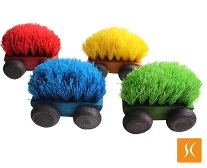 Cepillito Brush cars- Featured in MoMA's Design Catalog, these super fun and original brush cars are great for kids and also a great addition to the home decor or office!