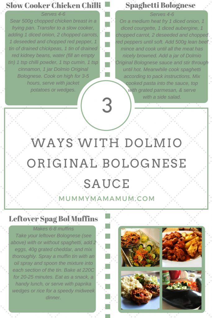 3 ways with #Dolmio bolognese sauce. #ThankGoodness for these recipes after a long day!
