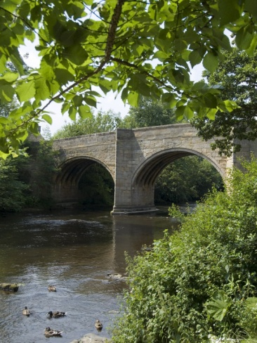 Baslow Bridge, Derbyshire, Peak District National Park, England, United Kingdom