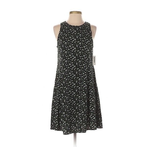 Old Navy Casual Dress ($13) ❤ liked on Polyvore featuring dresses, black, rayon dress, old navy, old navy dresses and viscose dress