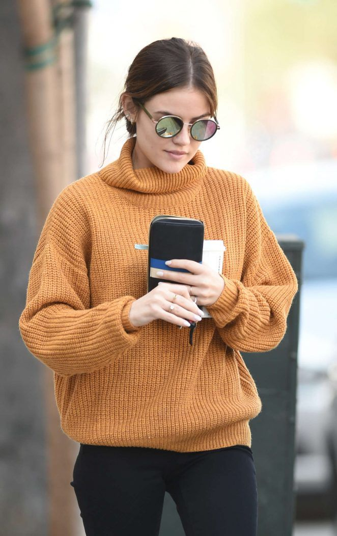 Lucy Hale in Black Pants out in Los Angeles