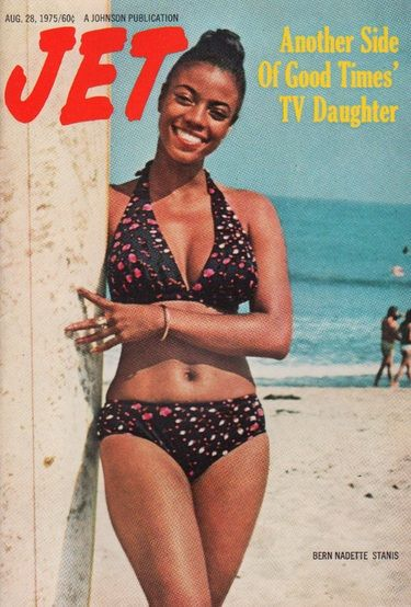 "Jet Magazine, August 28, 1975 Bern Nadette Stanis cover - I had the biggest crush on ""Thelma"" in highschool it wasn't even funny...and I grew up, started my morning talk show and guess who ended up a guest on my show in 2008 to promote her new book.........you got it, I finally got to personally met her!"