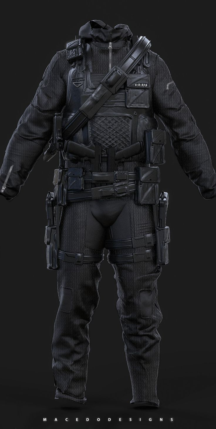 Combat Hazmat/Stealth Suit , Thiago Macedo / Macedo Designs on ArtStation at https://www.artstation.com/artwork/ezvwG