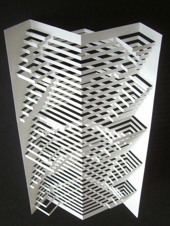 Un travail impressionnant sur le papier par l'artiste Elod Beregszaszi