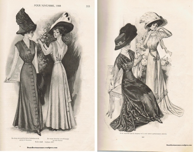 Gravure de 1908 extrait de mon miroir des modes 1908 for Miroir des modes