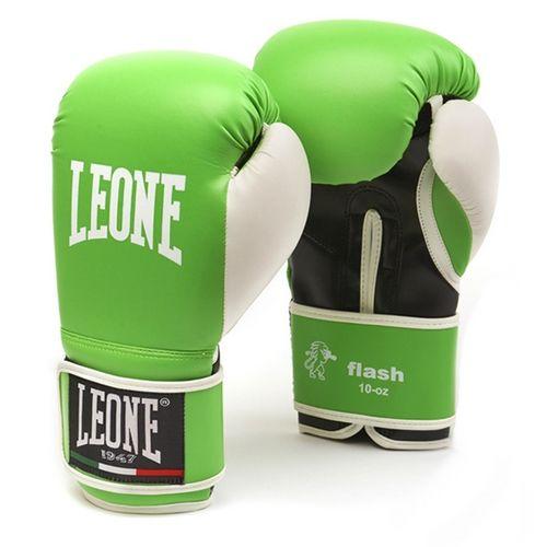 Guantoni Boxe LEONE FLASH Verde Kick Muay Thai Boxe