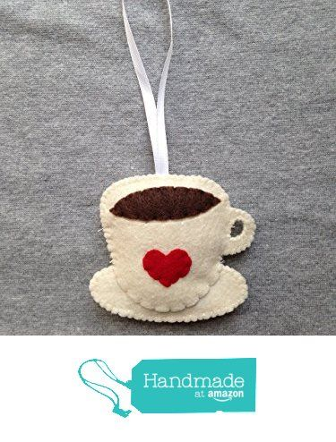 Coffee Cup Christmas Ornament with Red Heart from TuscanyCreative https://www.amazon.com/dp/B016POMAUC/ref=hnd_sw_r_pi_dp_jGgdxbEXN799C #handmadeatamazon