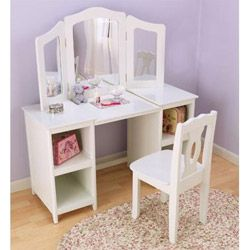 Deluxe Vanity And Chair, KidKraft Vanity Table And Chair Ababy.com $177.99