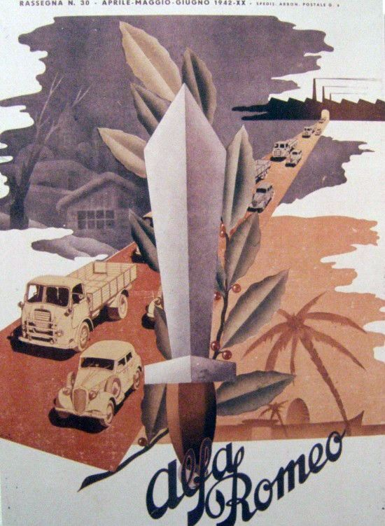 Vintage Alfa Romeo - artwork (1930s)
