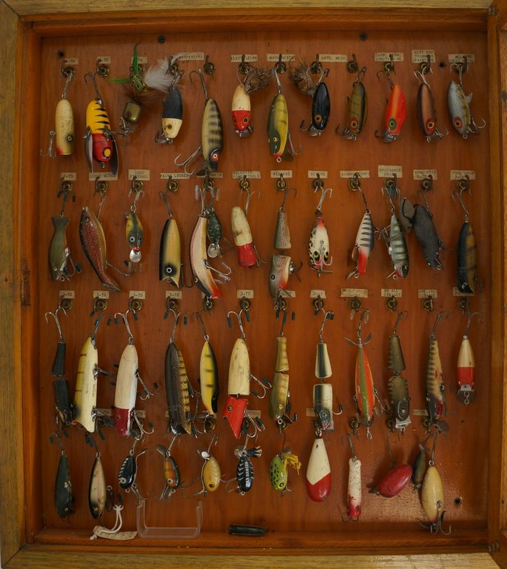 My husband's vintage fishing lures...for Austin