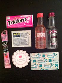 Bachelorette Party Weekend Hot Pink Black And Silver Gift Bags Gum