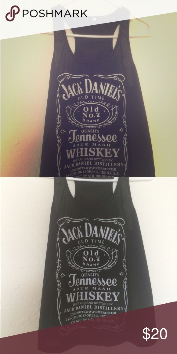 🎉SALE! ONE LEFT!!! 🎉black jack Daniels tank top jack Daniels tank top! Brand new! No brand. Super flowey and super cute with boots and jean shorts for your next country concert! Stone Cold Fox Tops Blouses