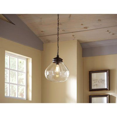 allen + roth 12-in Bristow Edison-Style Pendant Light with Clear Shade