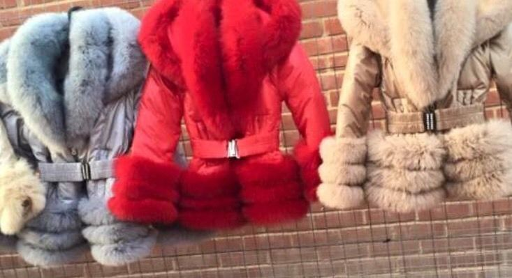 SALE---Romany Real Fox Fur Puffa Jacket/coat Sizes 8,10,12,14,16,18