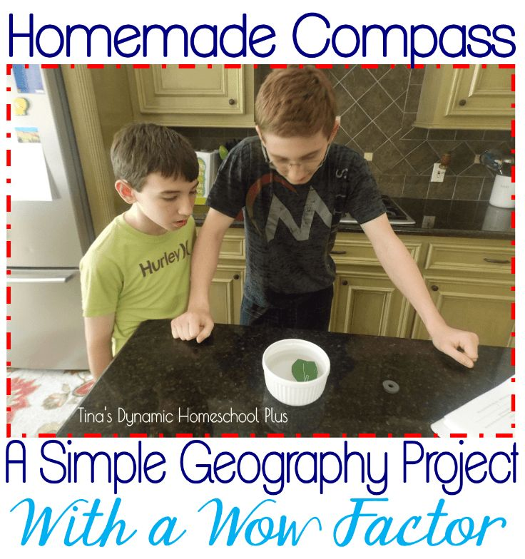 Easy and hands-on. Homemade Compass. Simple Geography Project Equals Huge Wow Factor