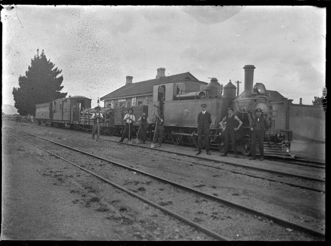"""""""L"""" class steam locomotive no. 207 (4-4-2T type) at Greytown Railway Station.."""
