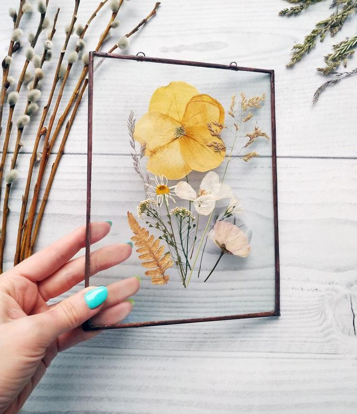 Framed Pressed Flowers Pressed Flower Frame Framed Dried Etsy Pressed Flowers Diy Flower Wall Art Pressed Flower Crafts
