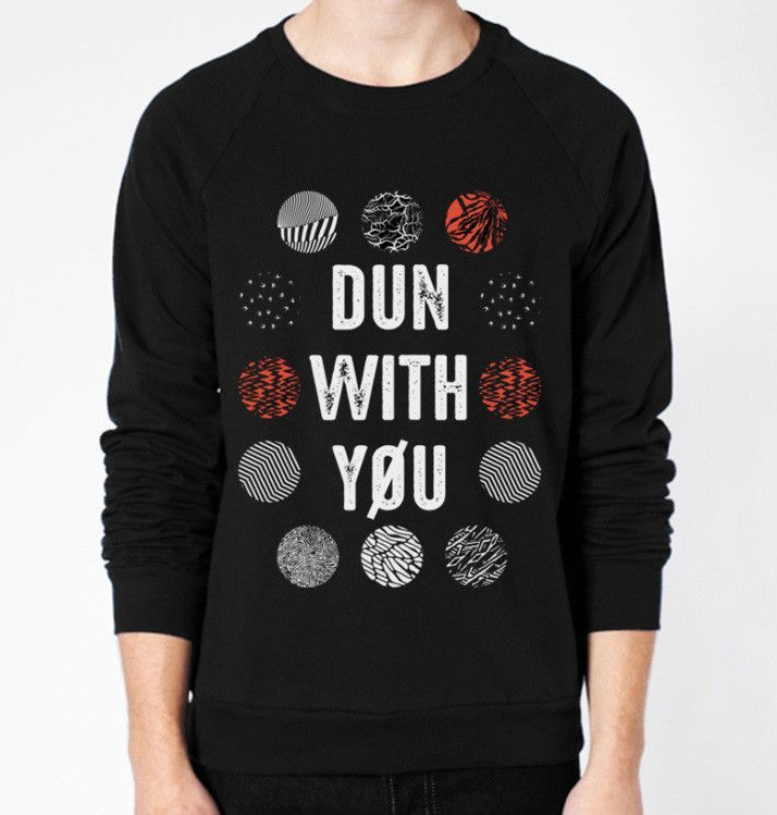 Dun With You (twenty one pilots) Crewneck Fleece Sweater (Unisex) - CrewWear