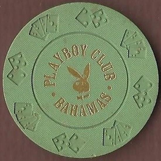 Playboy Club Casino, Nassau, 50 cent poker chip.