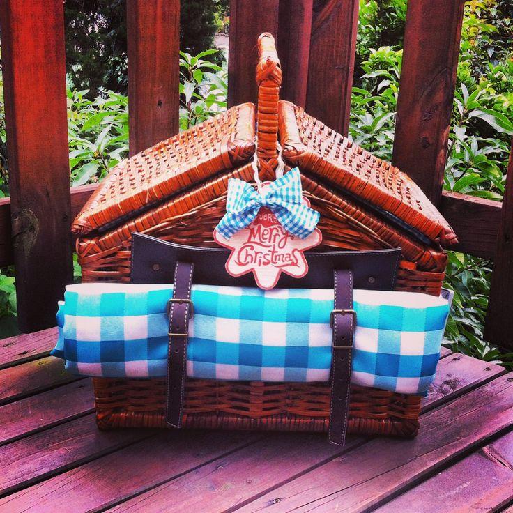 Canasta picnic 100% artesanal! Aguamarina