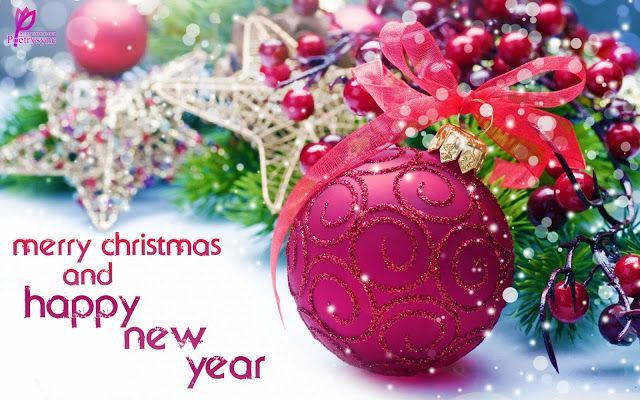 Happy New Year Wishes 2014 Merry Christmas Card with Greetings SMS