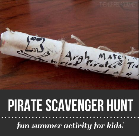 Pirate Scavenger Hunt - Fun Family Summer Activity for Kids