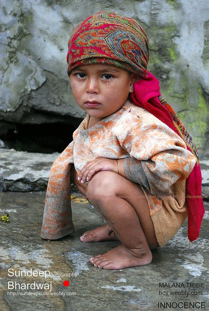 Child of the Malana Tribe . Himachal