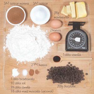 Receta de galletas de choco chips #receta #chocochips